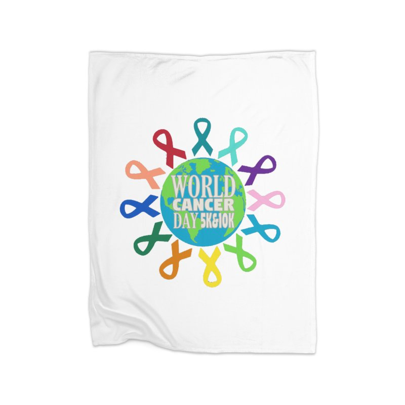 World Cancer Day 5K & 10K Home Blanket by moonjoggers's Artist Shop
