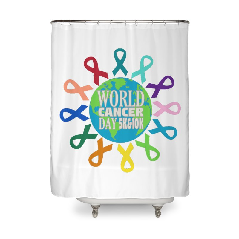 World Cancer Day 5K & 10K Home Shower Curtain by moonjoggers's Artist Shop