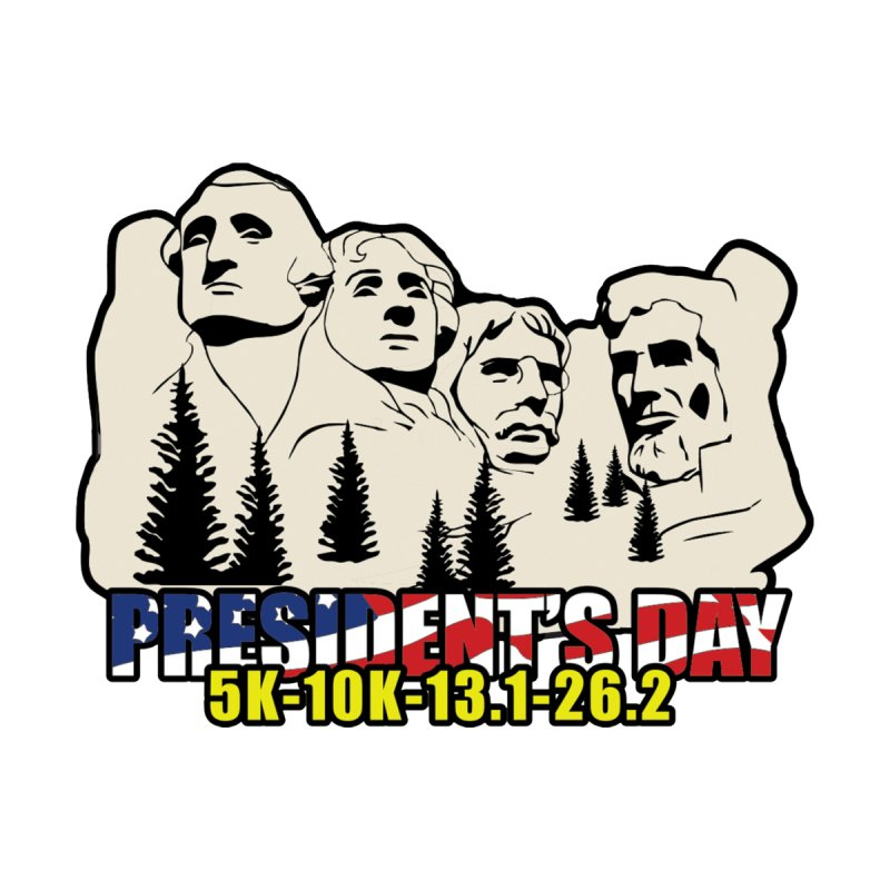 President's Day 5K, 10K, 13.1, 26.2 by moonjoggers's Artist Shop