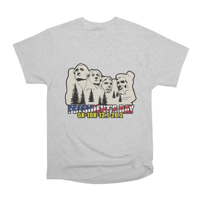 President's Day 5K, 10K, 13.1, 26.2 Women's Heavyweight Unisex T-Shirt by moonjoggers's Artist Shop