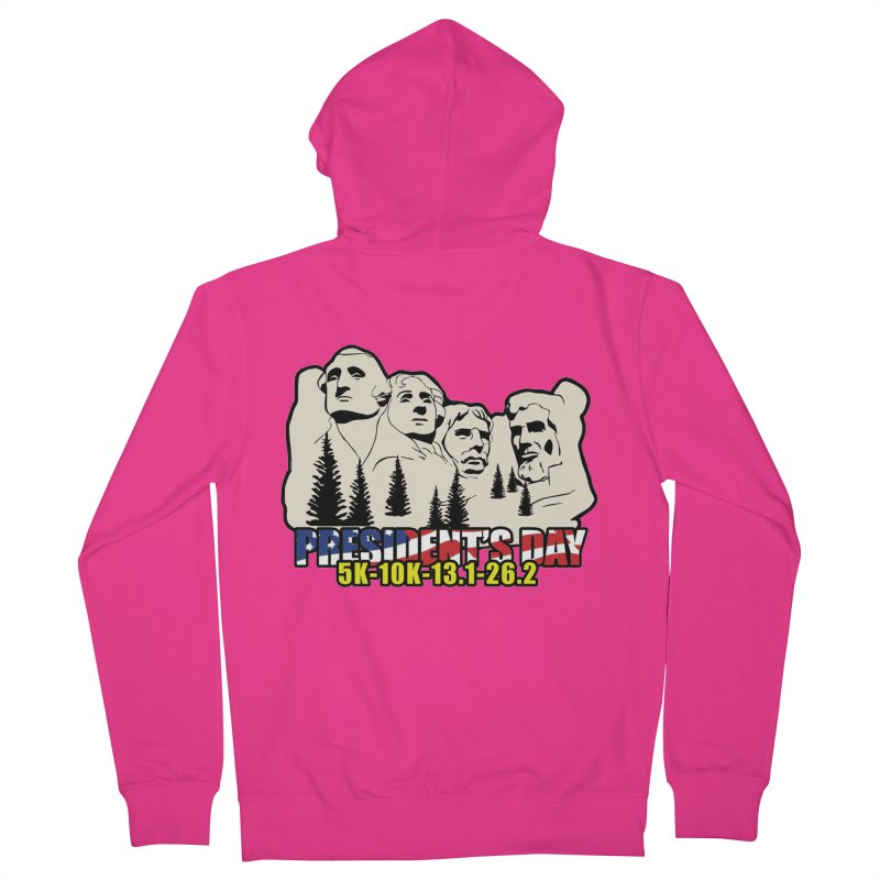 President's Day 5K, 10K, 13.1, 26.2 Men's French Terry Zip-Up Hoody by moonjoggers's Artist Shop