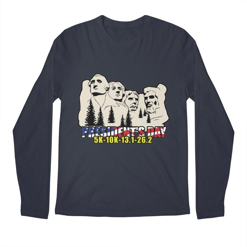 President's Day 5K, 10K, 13.1, 26.2 Men's Regular Longsleeve T-Shirt by moonjoggers's Artist Shop