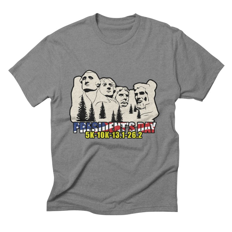 President's Day 5K, 10K, 13.1, 26.2 Men's Triblend T-Shirt by moonjoggers's Artist Shop
