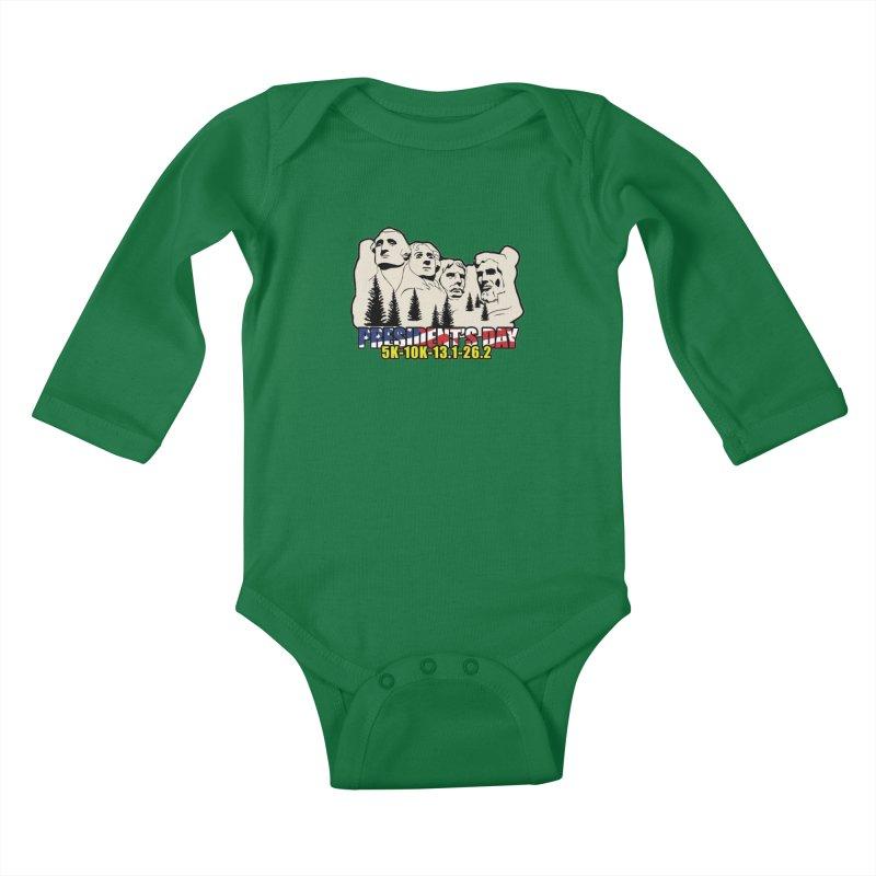 President's Day 5K, 10K, 13.1, 26.2 Kids Baby Longsleeve Bodysuit by moonjoggers's Artist Shop