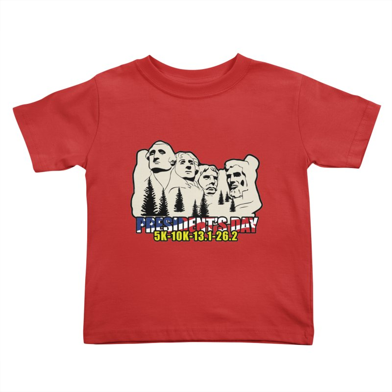 President's Day 5K, 10K, 13.1, 26.2 Kids Toddler T-Shirt by moonjoggers's Artist Shop