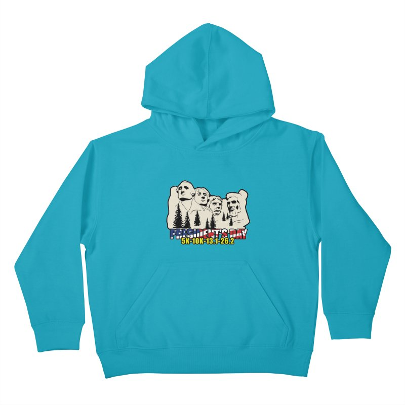 President's Day 5K, 10K, 13.1, 26.2 Kids Pullover Hoody by moonjoggers's Artist Shop