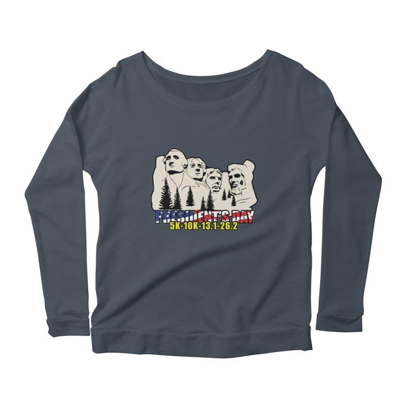 President's Day 5K, 10K, 13.1, 26.2 Women's Scoop Neck Longsleeve T-Shirt by moonjoggers's Artist Shop