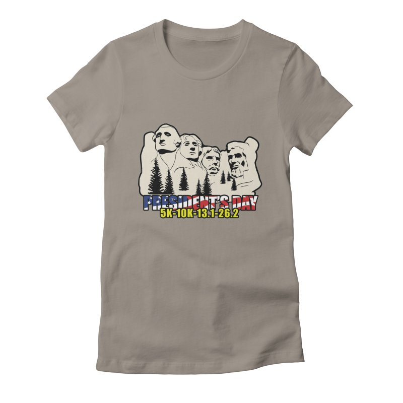 President's Day 5K, 10K, 13.1, 26.2 Women's Fitted T-Shirt by moonjoggers's Artist Shop