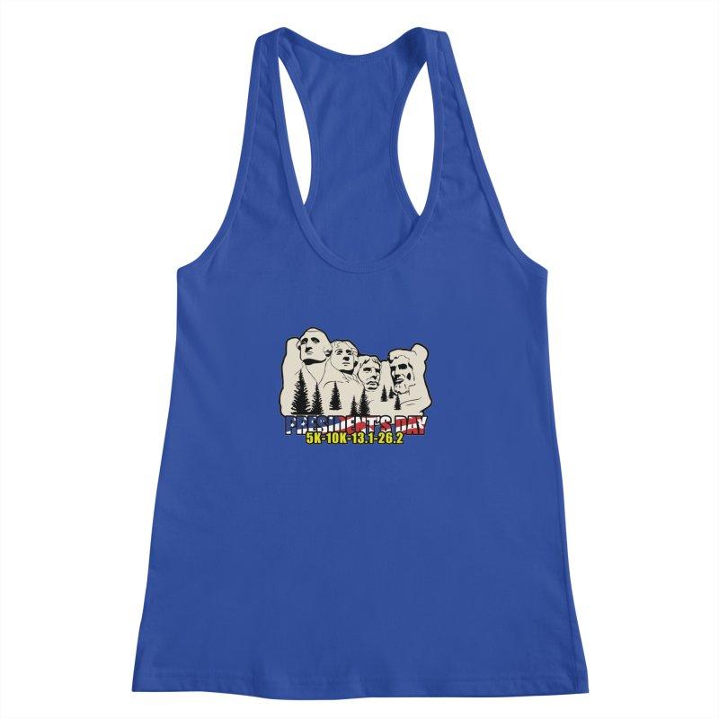 President's Day 5K, 10K, 13.1, 26.2 Women's Racerback Tank by moonjoggers's Artist Shop