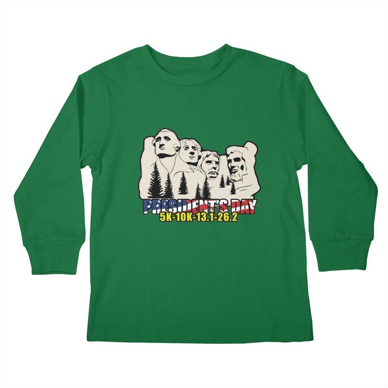 President's Day 5K, 10K, 13.1, 26.2 Kids Longsleeve T-Shirt by moonjoggers's Artist Shop