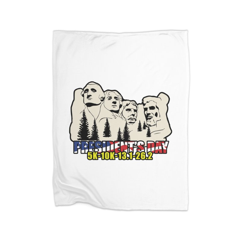 President's Day 5K, 10K, 13.1, 26.2 Home Blanket by moonjoggers's Artist Shop