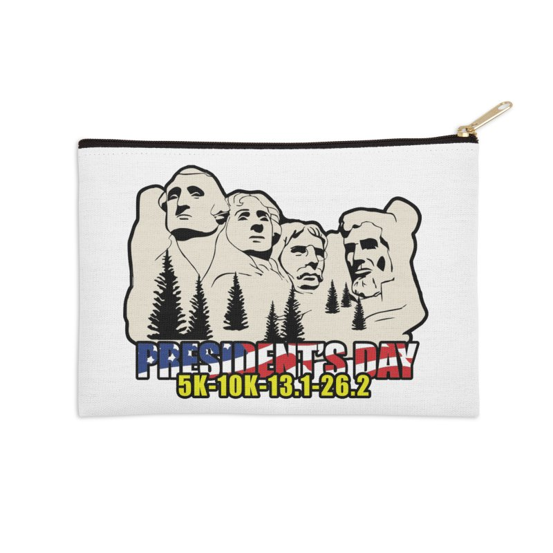 President's Day 5K, 10K, 13.1, 26.2 Accessories Zip Pouch by moonjoggers's Artist Shop