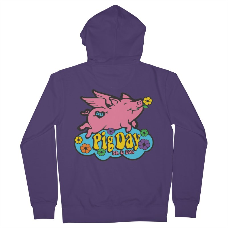 Pig Day 5K & 10K Women's French Terry Zip-Up Hoody by moonjoggers's Artist Shop