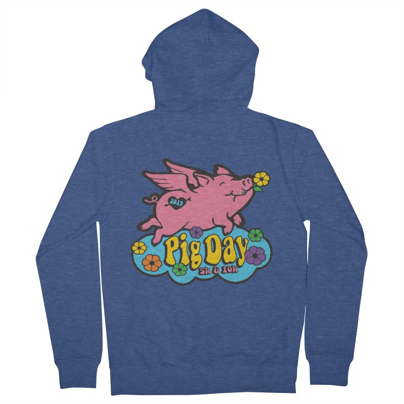 Pig Day 5K & 10K Men's French Terry Zip-Up Hoody by moonjoggers's Artist Shop