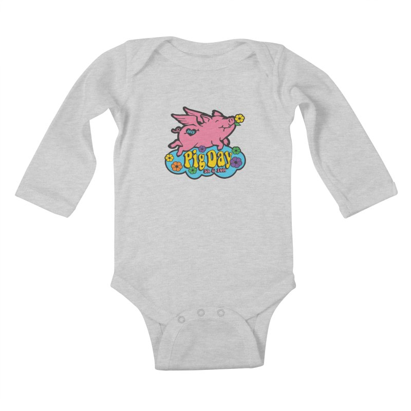 Pig Day 5K & 10K Kids Baby Longsleeve Bodysuit by moonjoggers's Artist Shop