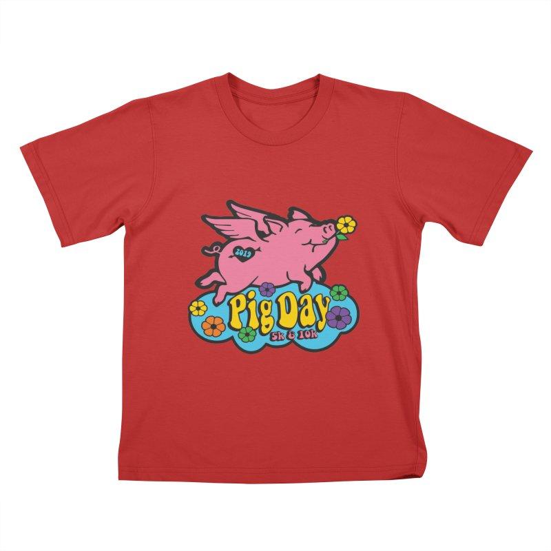 Pig Day 5K & 10K Kids T-Shirt by moonjoggers's Artist Shop