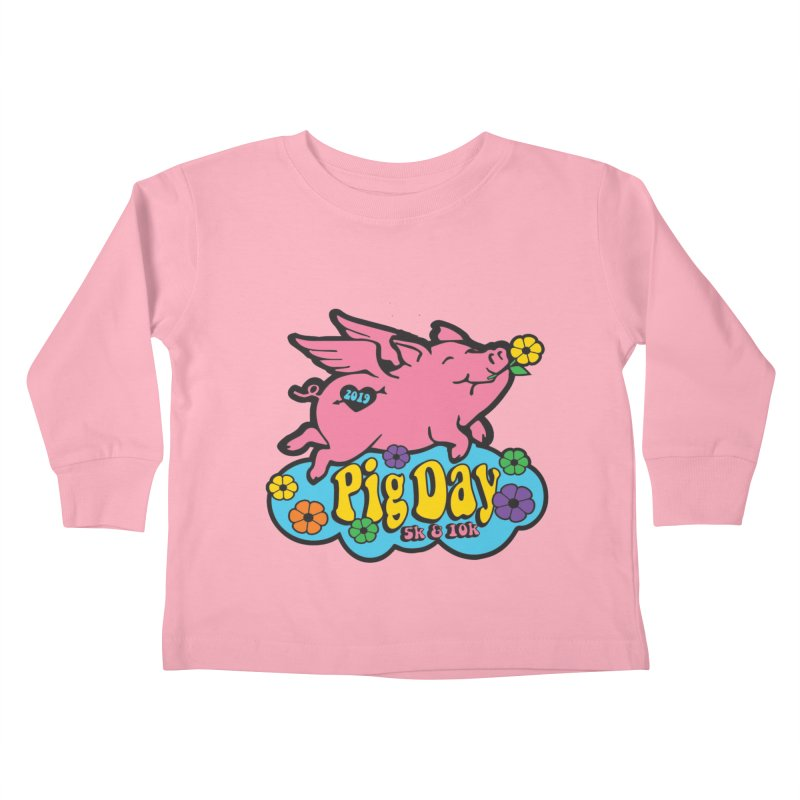 Pig Day 5K & 10K Kids Toddler Longsleeve T-Shirt by moonjoggers's Artist Shop