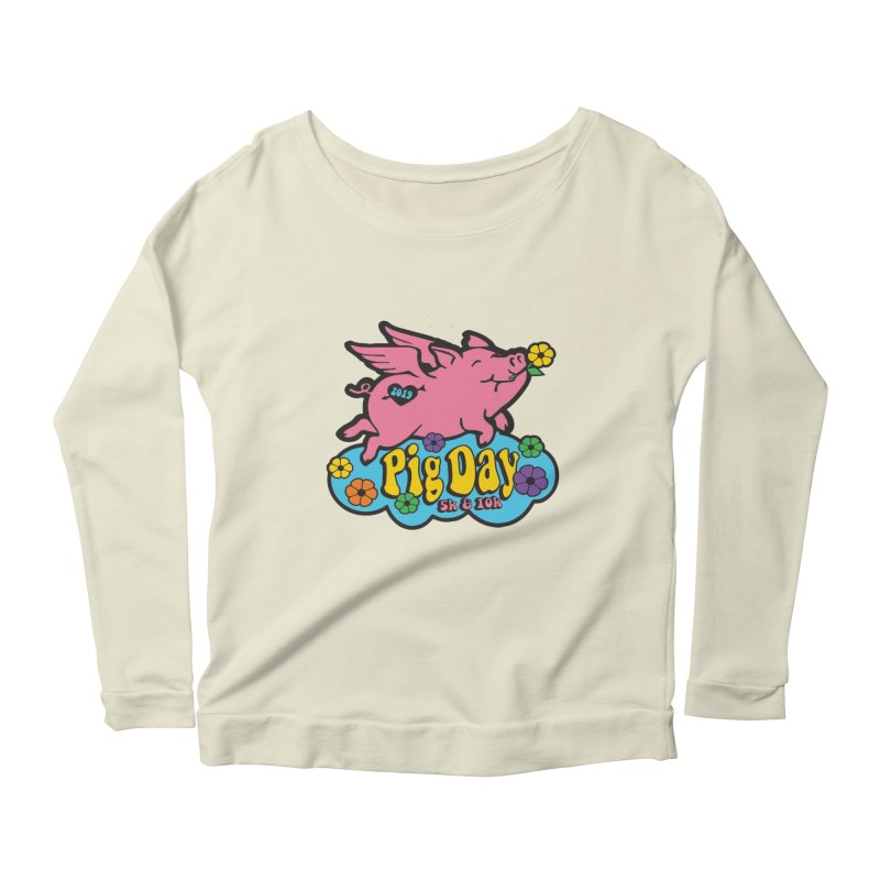 Pig Day 5K & 10K Women's Scoop Neck Longsleeve T-Shirt by moonjoggers's Artist Shop