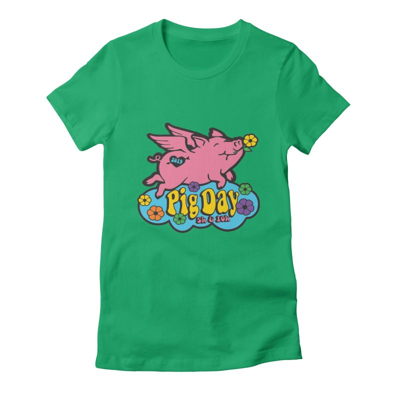 Pig Day 5K & 10K Women's Fitted T-Shirt by moonjoggers's Artist Shop