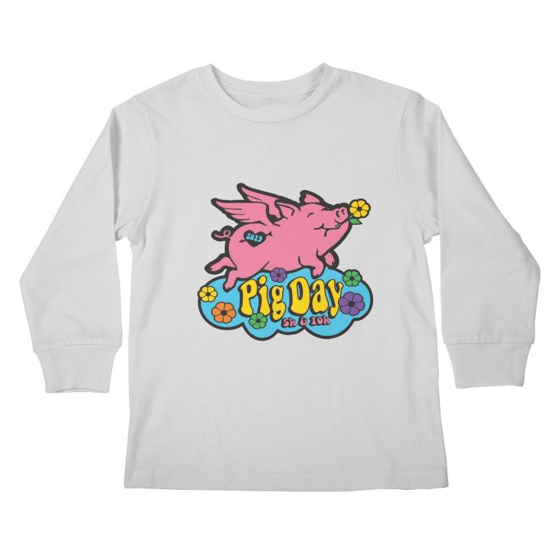 Pig Day 5K & 10K Kids Longsleeve T-Shirt by moonjoggers's Artist Shop