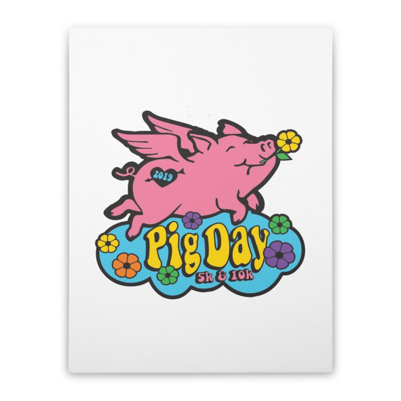 Pig Day 5K & 10K Home Stretched Canvas by moonjoggers's Artist Shop