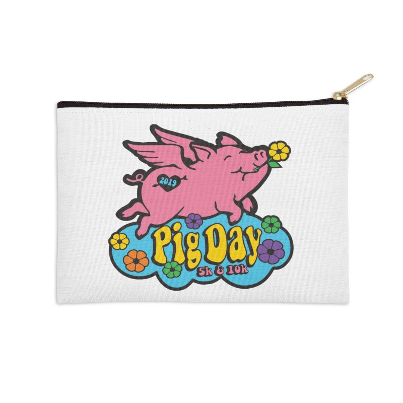 Pig Day 5K & 10K Accessories Zip Pouch by moonjoggers's Artist Shop