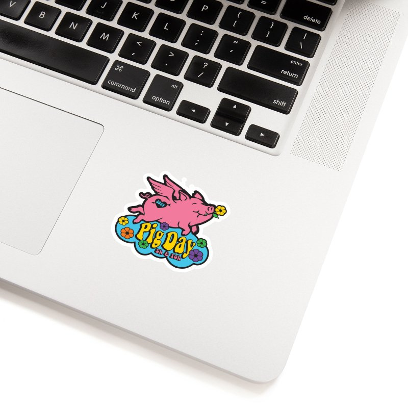 Pig Day 5K & 10K Accessories Sticker by moonjoggers's Artist Shop