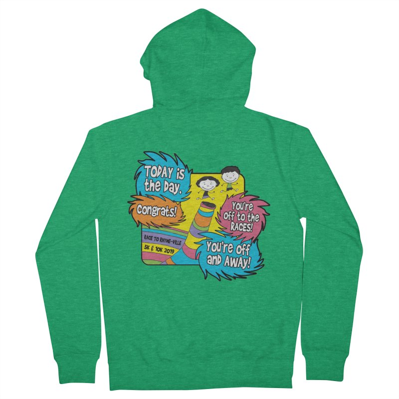 Race to Rhyme-Ville 5K & 10K Men's French Terry Zip-Up Hoody by moonjoggers's Artist Shop