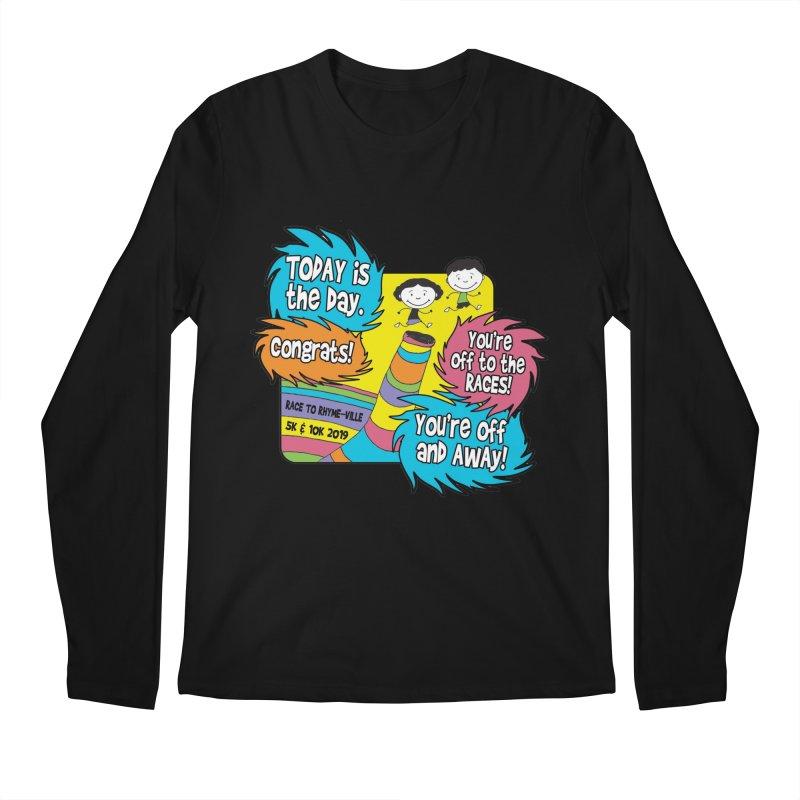 Race to Rhyme-Ville 5K & 10K Men's Regular Longsleeve T-Shirt by moonjoggers's Artist Shop
