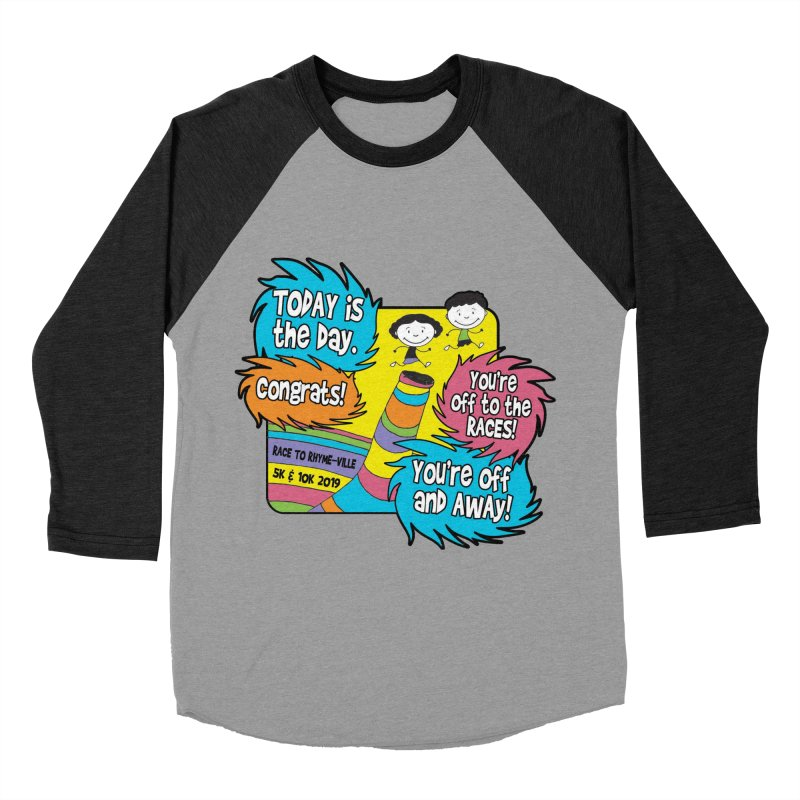 Race to Rhyme-Ville 5K & 10K Women's Baseball Triblend Longsleeve T-Shirt by moonjoggers's Artist Shop