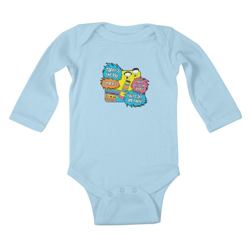 Race to Rhyme-Ville 5K & 10K Kids Baby Longsleeve Bodysuit by moonjoggers's Artist Shop