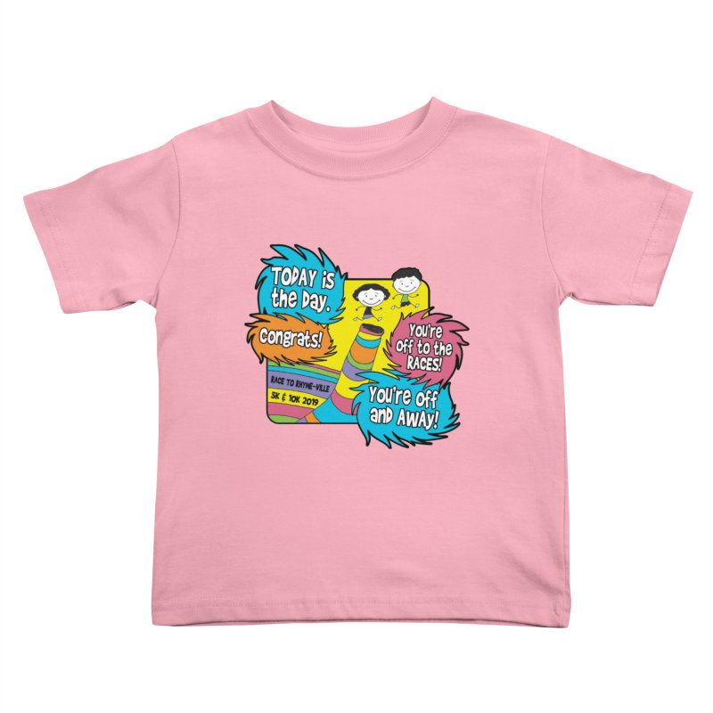 Race to Rhyme-Ville 5K & 10K Kids Toddler T-Shirt by moonjoggers's Artist Shop