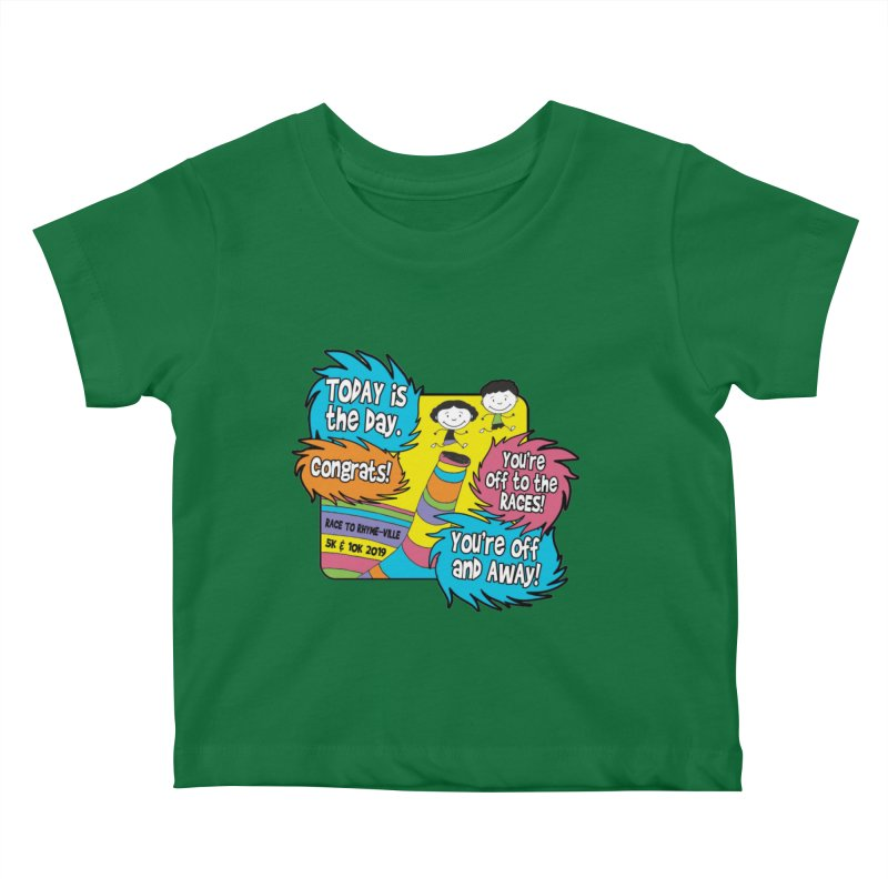 Race to Rhyme-Ville 5K & 10K Kids Baby T-Shirt by moonjoggers's Artist Shop