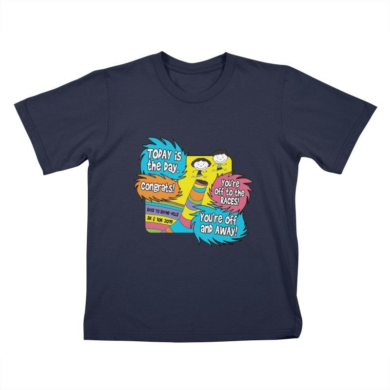 Race to Rhyme-Ville 5K & 10K Kids T-Shirt by moonjoggers's Artist Shop