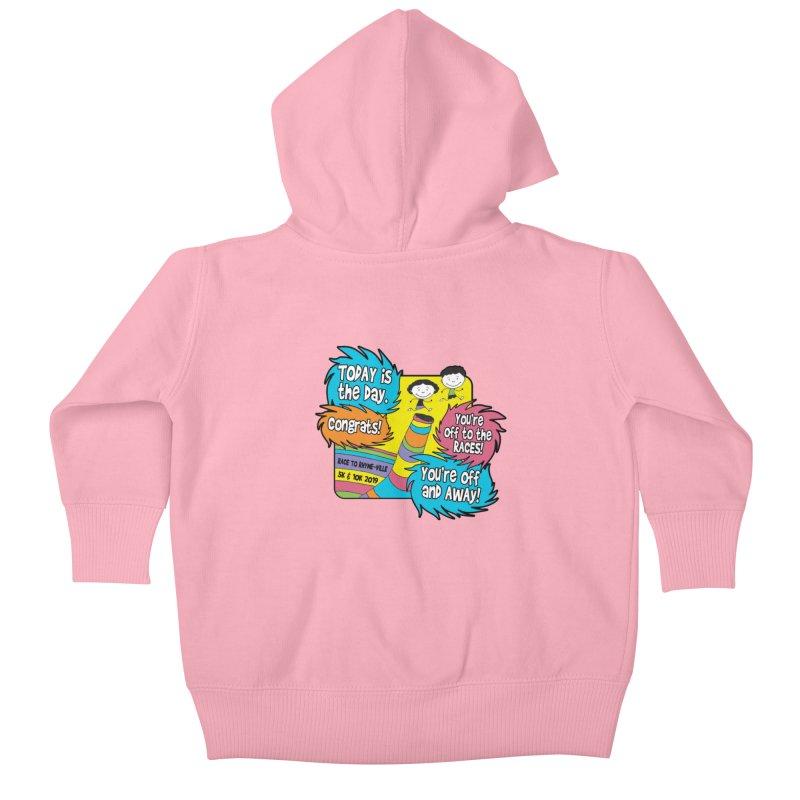 Race to Rhyme-Ville 5K & 10K Kids Baby Zip-Up Hoody by moonjoggers's Artist Shop