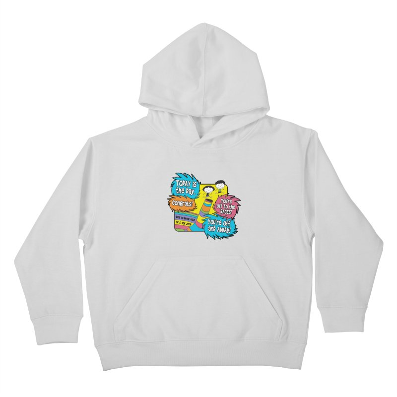 Race to Rhyme-Ville 5K & 10K Kids Pullover Hoody by moonjoggers's Artist Shop