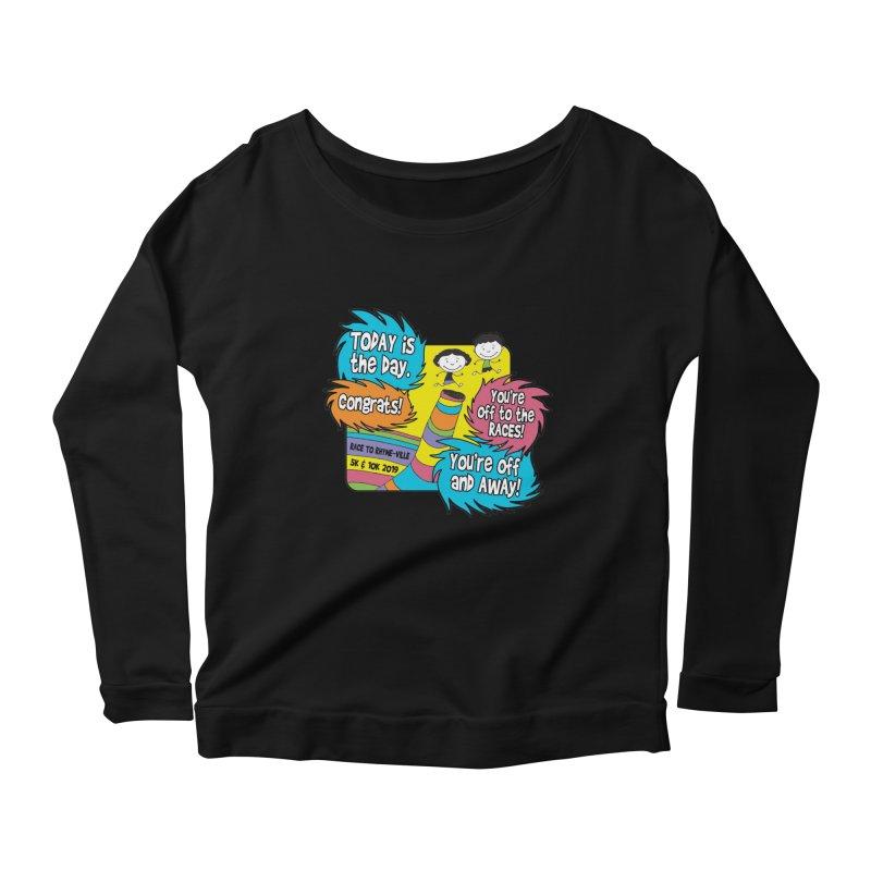 Race to Rhyme-Ville 5K & 10K Women's Scoop Neck Longsleeve T-Shirt by moonjoggers's Artist Shop