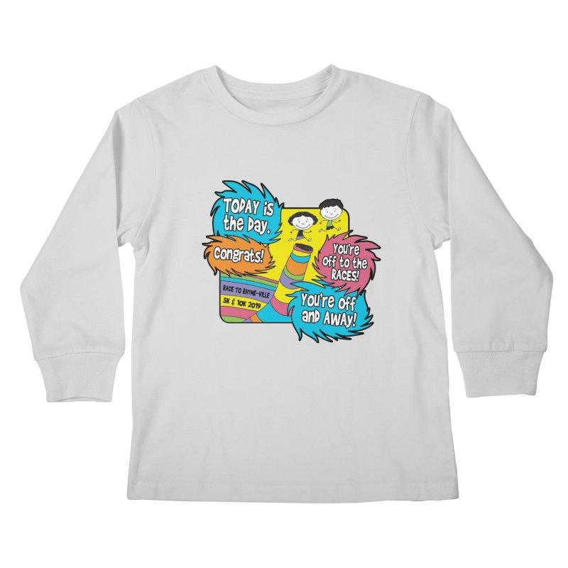 Race to Rhyme-Ville 5K & 10K Kids Longsleeve T-Shirt by moonjoggers's Artist Shop