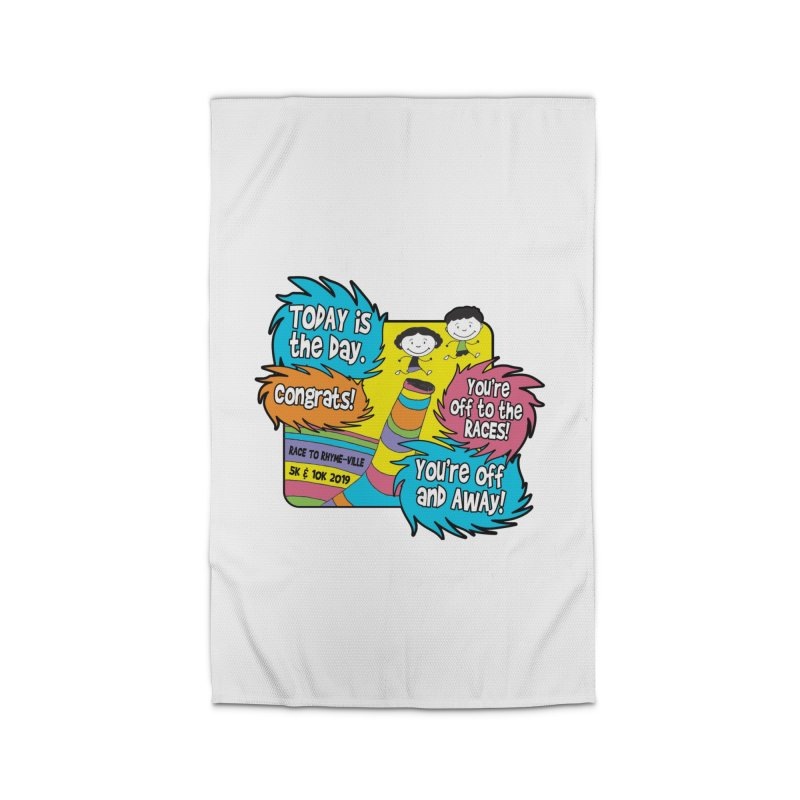 Race to Rhyme-Ville 5K & 10K Home Rug by moonjoggers's Artist Shop