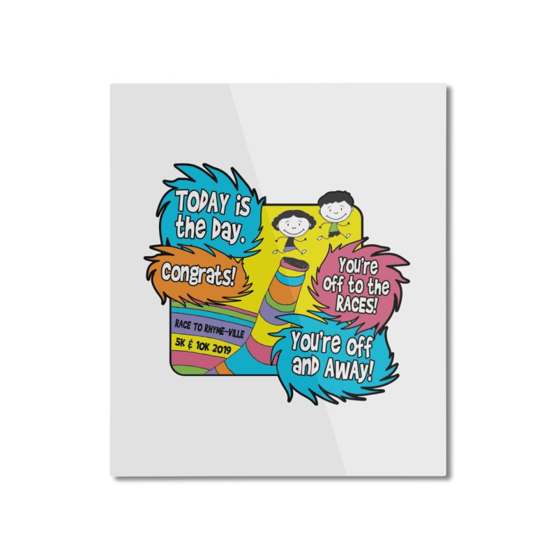 Race to Rhyme-Ville 5K & 10K Home Mounted Aluminum Print by moonjoggers's Artist Shop