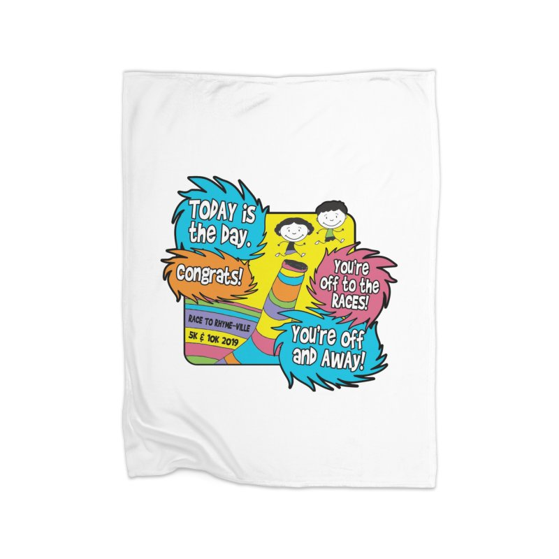 Race to Rhyme-Ville 5K & 10K Home Blanket by moonjoggers's Artist Shop