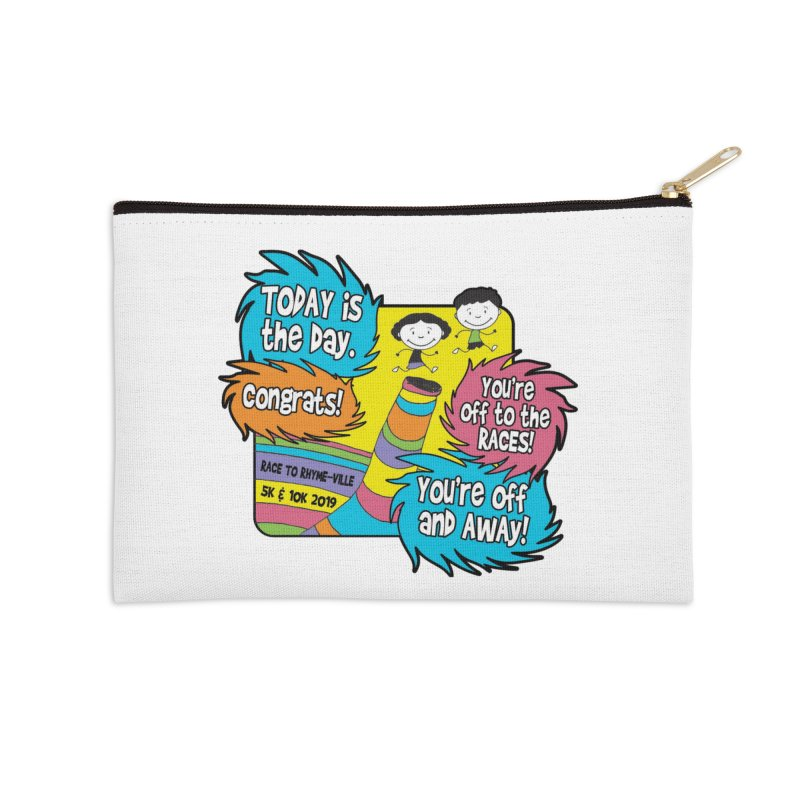 Race to Rhyme-Ville 5K & 10K Accessories Zip Pouch by moonjoggers's Artist Shop