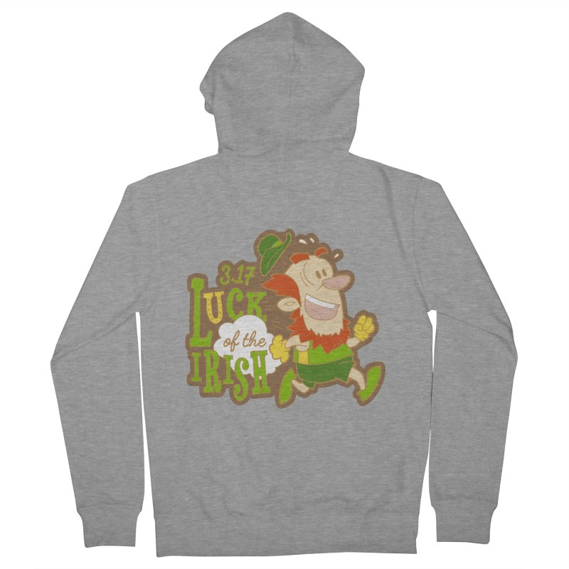 Luck of the Irish 3.17 Men's French Terry Zip-Up Hoody by moonjoggers's Artist Shop