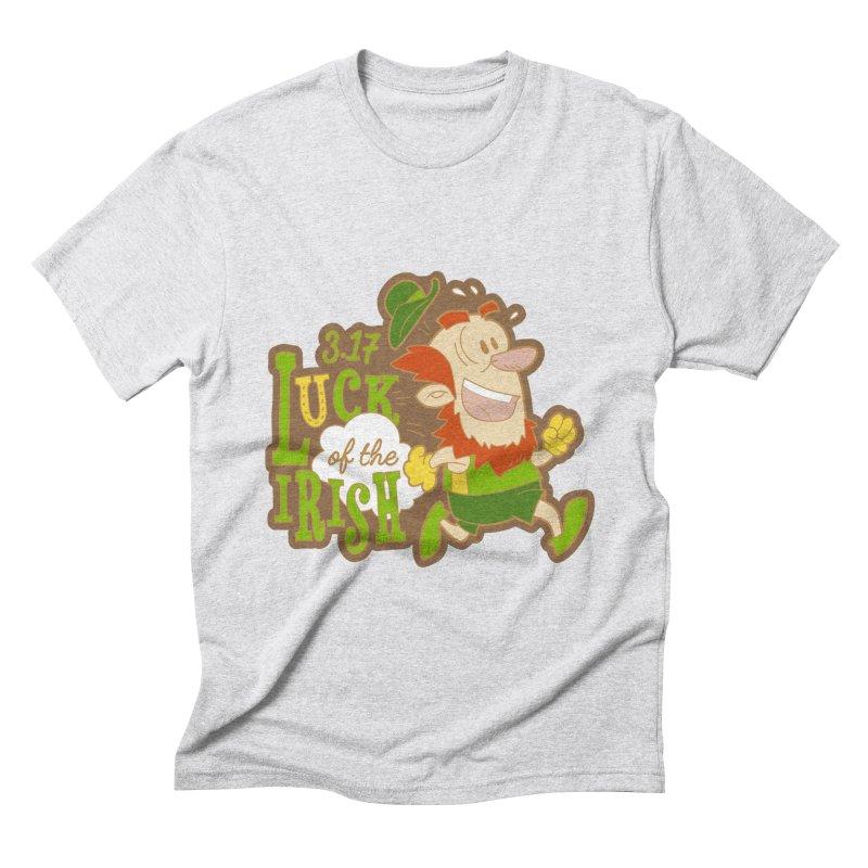 Luck of the Irish 3.17 Men's Triblend T-Shirt by moonjoggers's Artist Shop