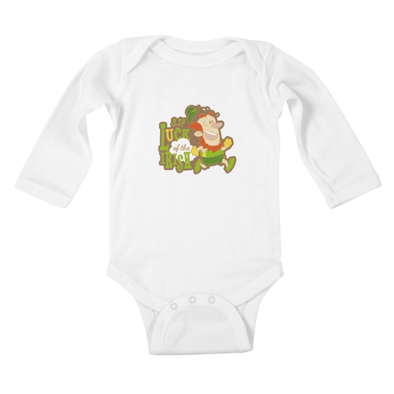 Luck of the Irish 3.17 Kids Baby Longsleeve Bodysuit by moonjoggers's Artist Shop