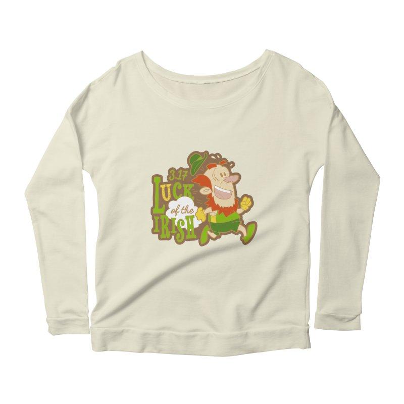 Luck of the Irish 3.17 Women's Scoop Neck Longsleeve T-Shirt by moonjoggers's Artist Shop