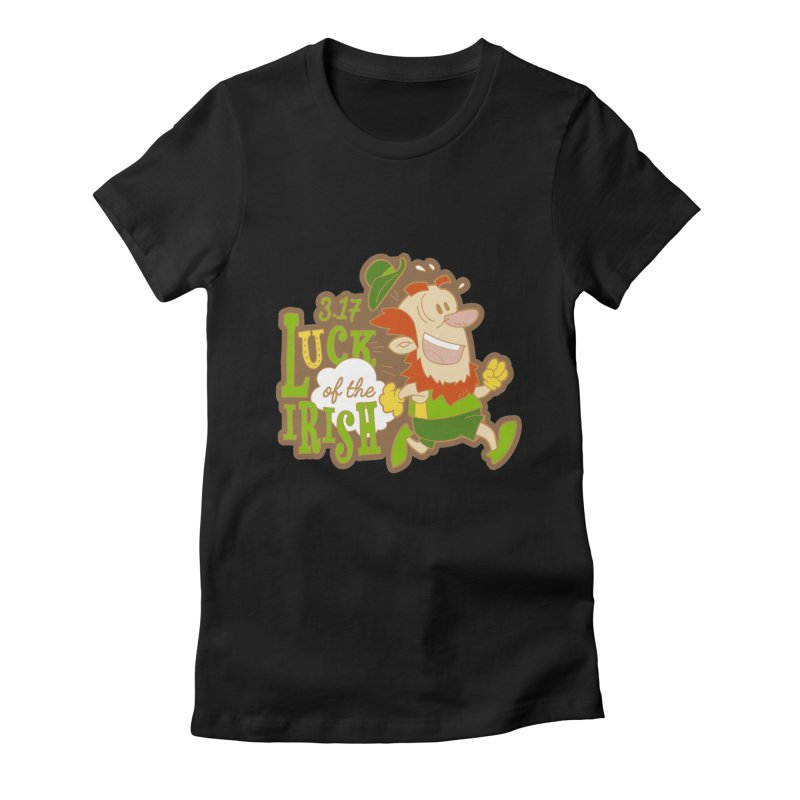 Luck of the Irish 3.17 Women's Fitted T-Shirt by moonjoggers's Artist Shop