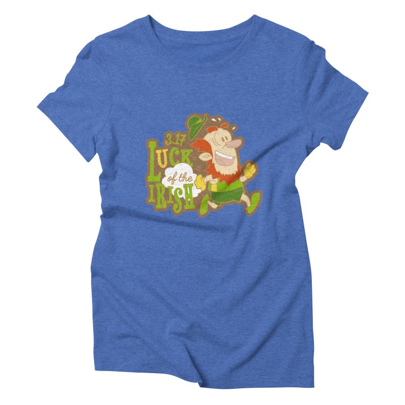Luck of the Irish 3.17 Women's Triblend T-Shirt by moonjoggers's Artist Shop