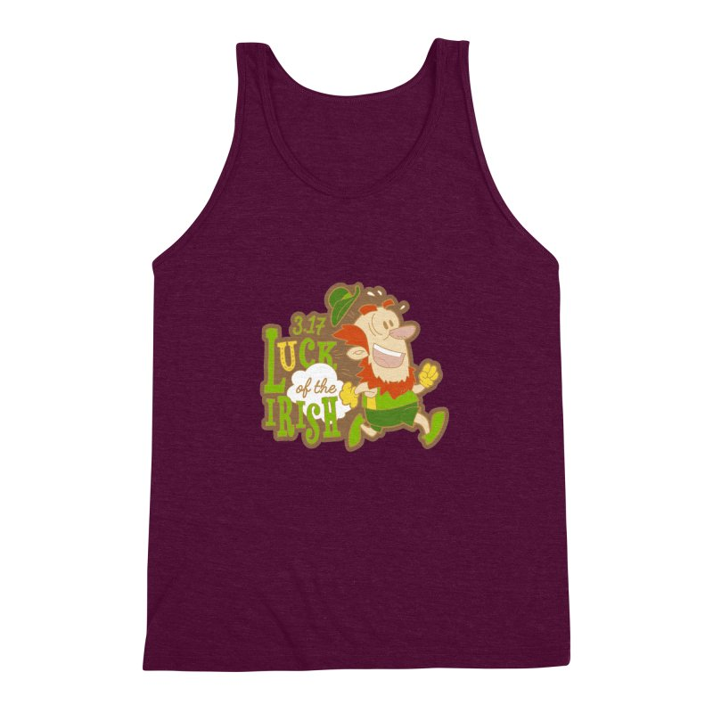 Luck of the Irish 3.17 Men's Triblend Tank by moonjoggers's Artist Shop