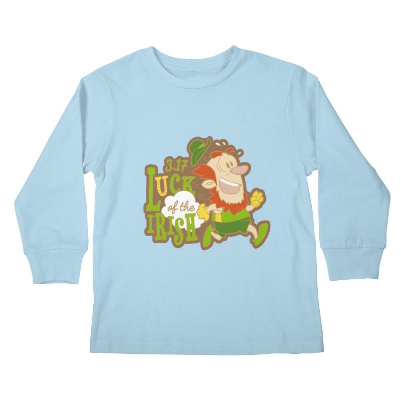 Luck of the Irish 3.17 Kids Longsleeve T-Shirt by moonjoggers's Artist Shop